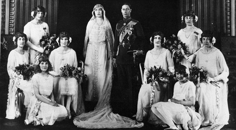 Duke of York andLady Elizabeth Bowes~Lyon wedding