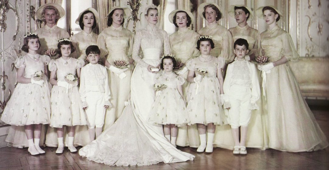 Princess Grace and her attendants