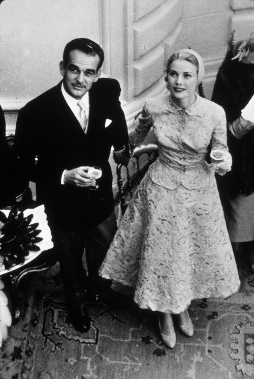Grace Kelly civil wedding suit