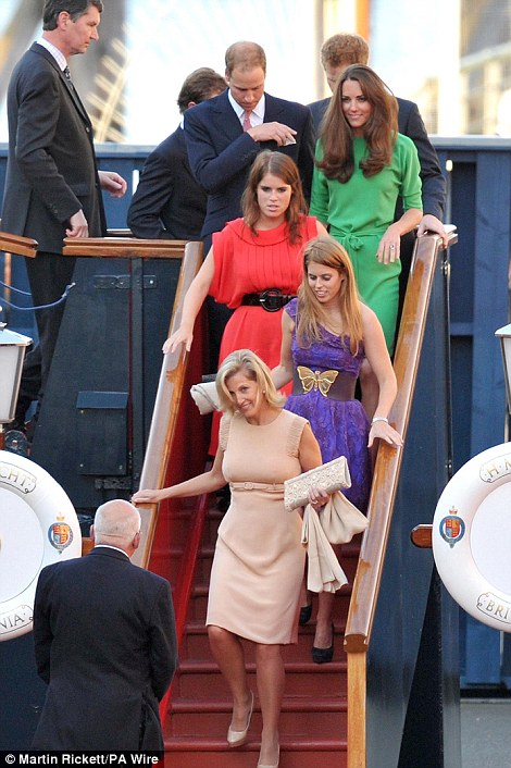 The Royals leave the Royal Yacht Britannia