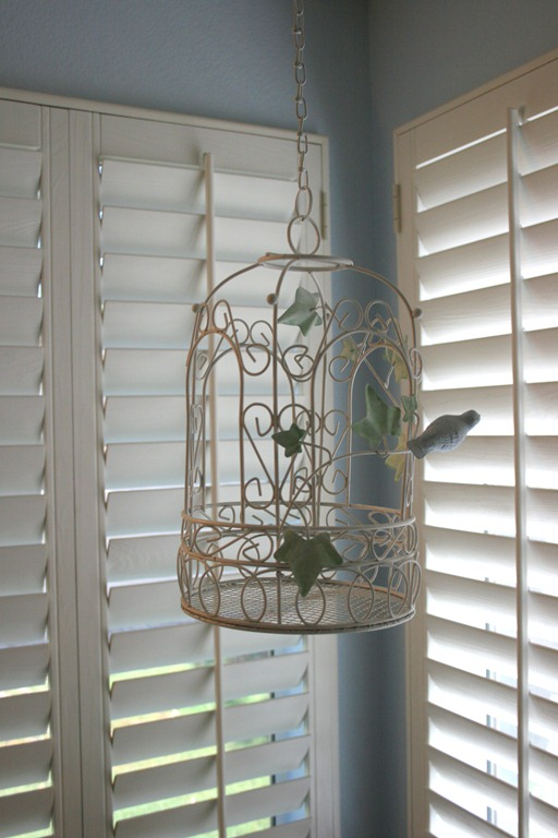 bathroom bird chandelier
