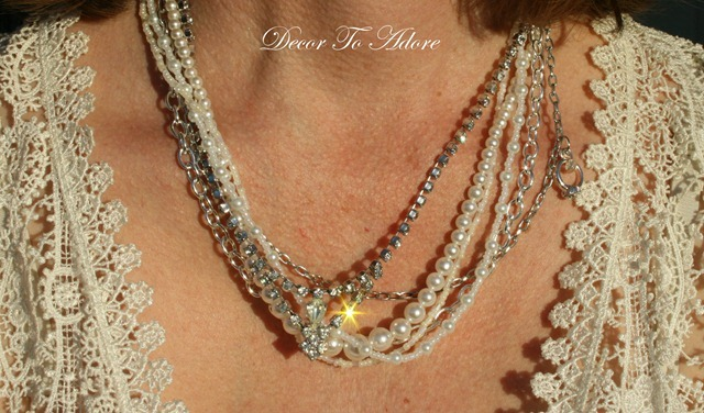 Vintage Necklace Makeover Decor To Adore