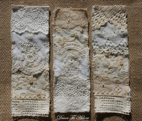 Romantic Antique Lace Napkin Rings