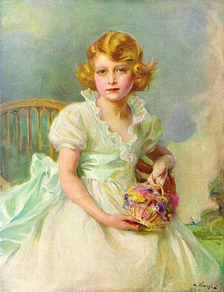 Philip Alexius de Laszlo-Princess Elizabeth of York, Currently Queen Elizabeth II of England,1933.