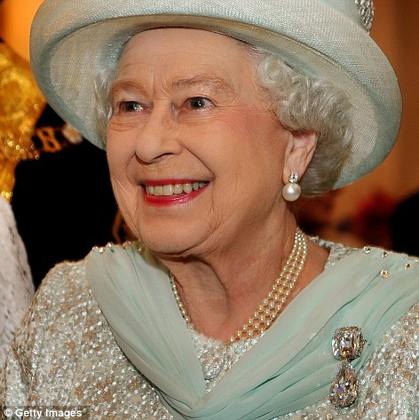 The Queen wore gems cut from the world's largest diamond on her lapel today