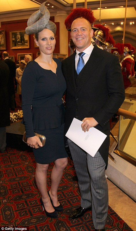 Mike Tindall and Zara Philips attend a reception at Guildhall