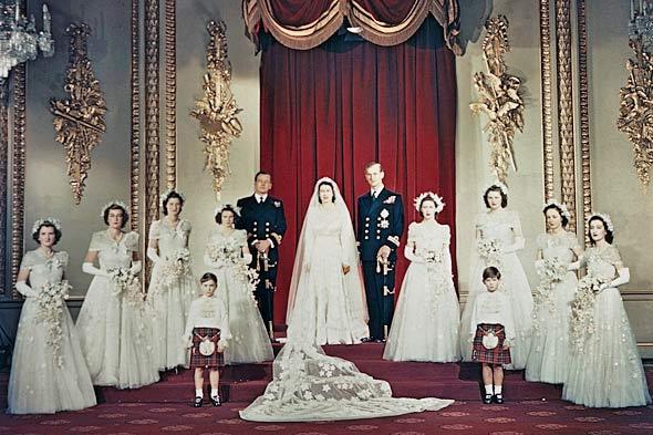 Princess Elizabeth group wedding photo