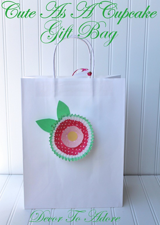 Cute As A Cupcake Gift Bag