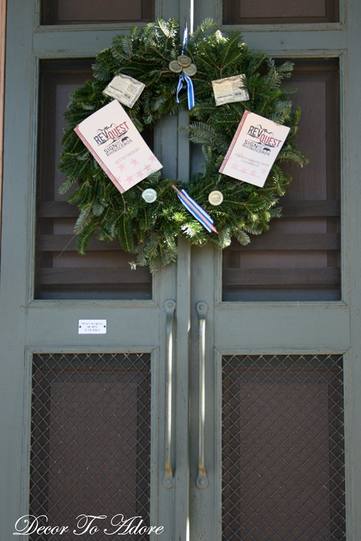 print shop wreath