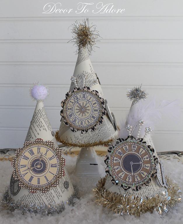 parisian New Year's Eve party hats