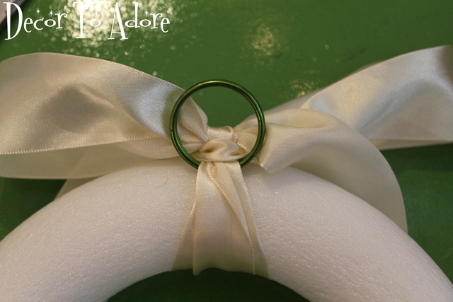 ribbon on wreath
