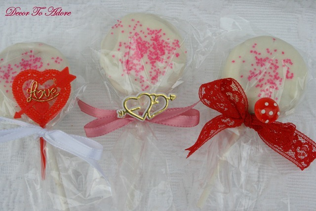 Valentine Cookie Pop Topiary