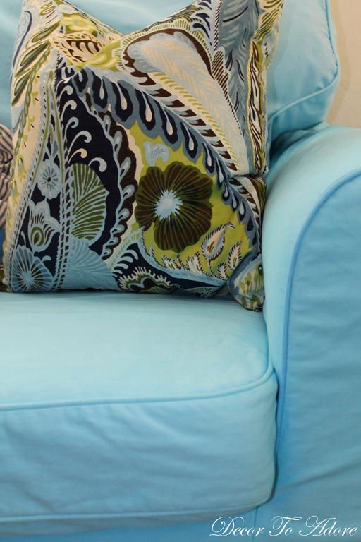 Dyeing Ikea Slipcovers