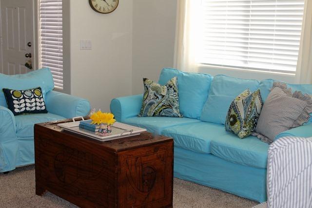 A spring living room