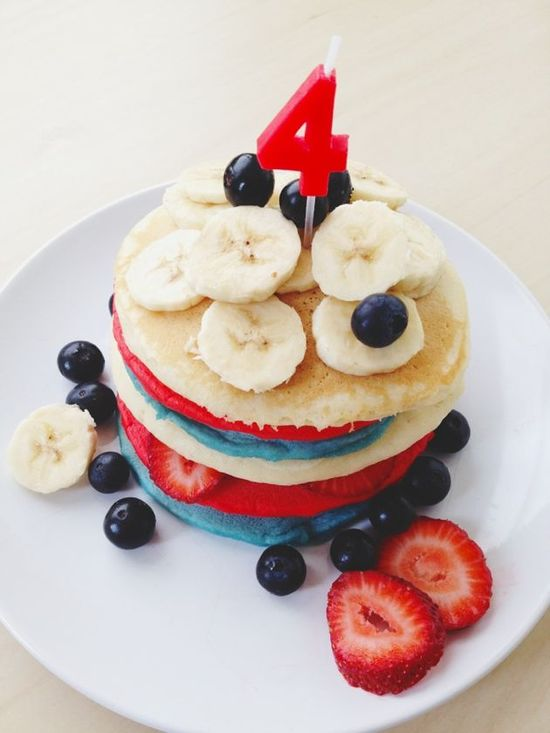 festive pancakes for 4th of July