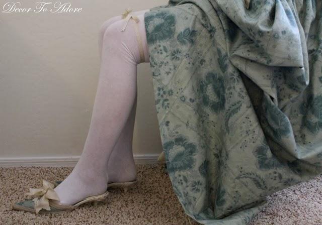 18th Century Ensemble Decor To Adore stocking and garter
