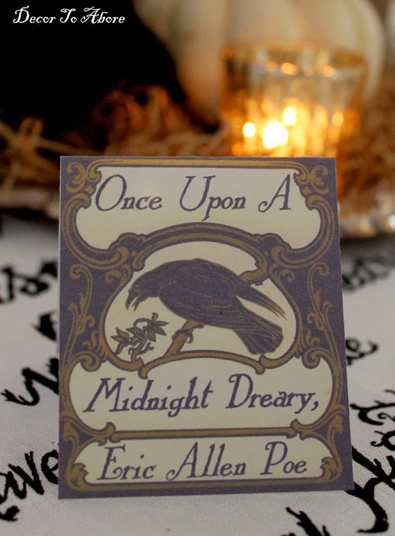 Nevermore Decor To Adore placecard
