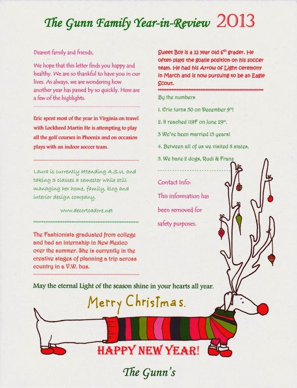 How To Write A Happy Holiday Newsletter - Decor to Adore