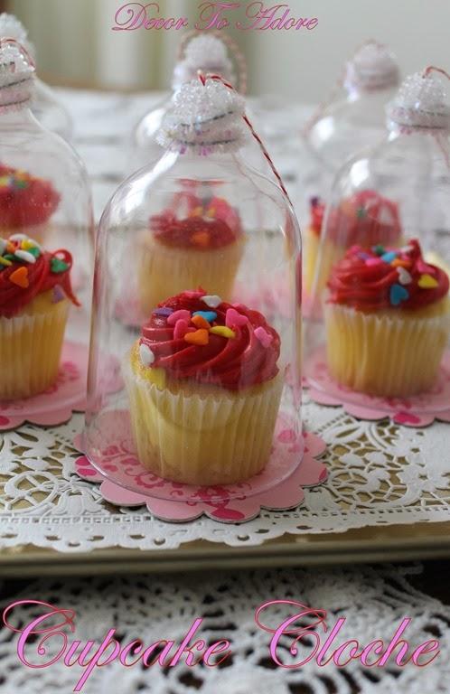 Valentine Cupcake Cloche