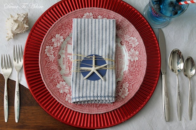 Starfish and Stripes Forever Tablescape