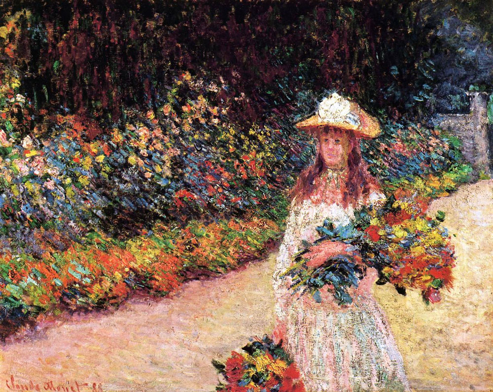"""""""Young Girl in the Garden at Giverny""""~ Monet, 1888"""