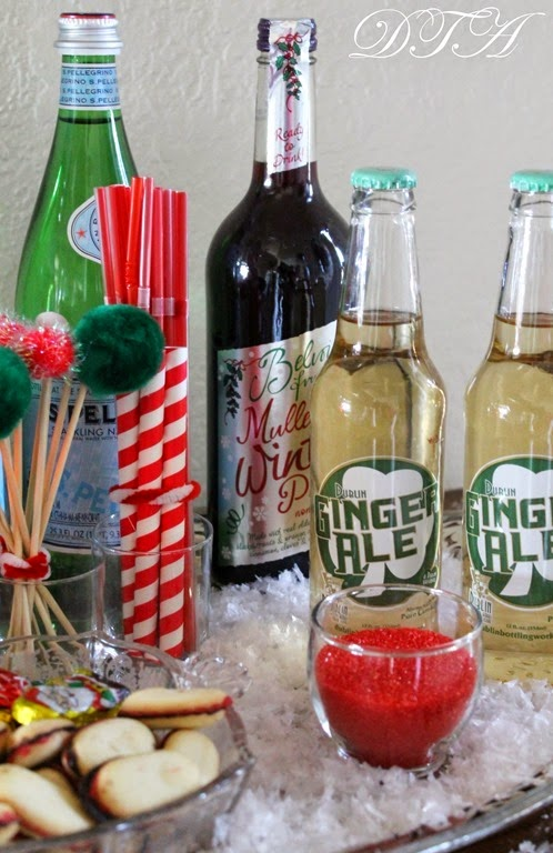 A Christmas Bar Cart for Teetotalers