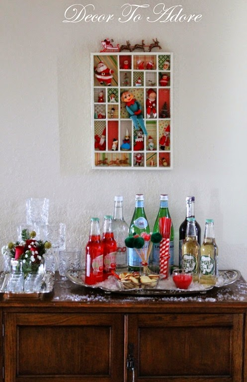 Decor To Adore Christmas Bar Cart