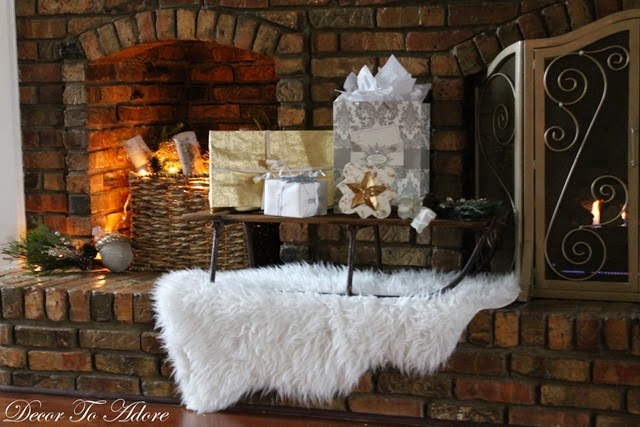 Decor To Adore~ Fireplace mantle rug