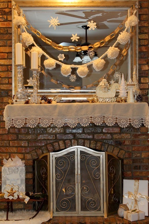 Decor To Adore~ Fireplace mantle cover