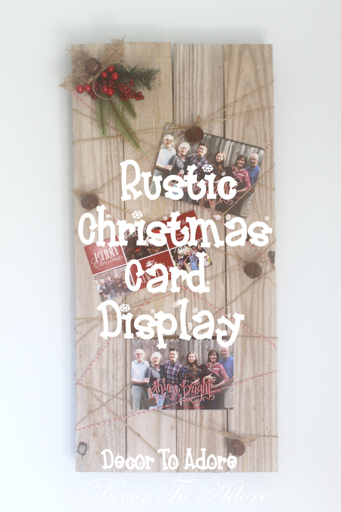 photo Christmas Card Display DIY Recycled Wood