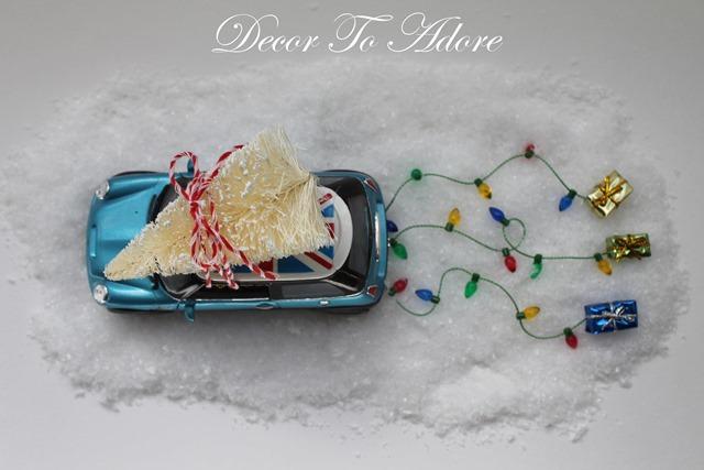 Christmas Car DIY Kit in snow