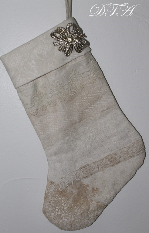 Stocking with brooch