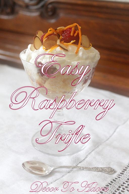Easy Raspberry Orange Trifle