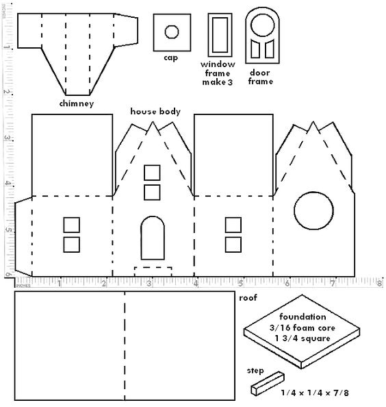 Little Glitter Houses Pattern