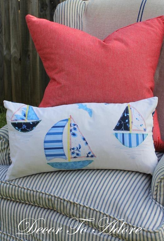 Create A Sailboat Applique Pillow