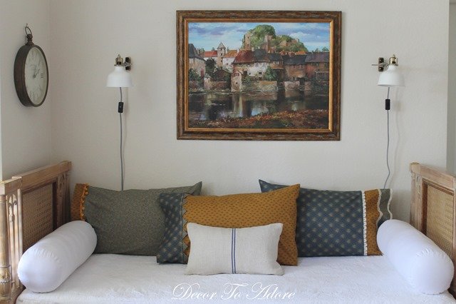 Andover pillowcases on daybed
