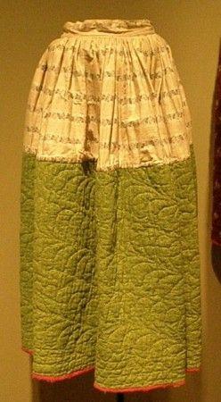 Petticoat Calico prints c.1880