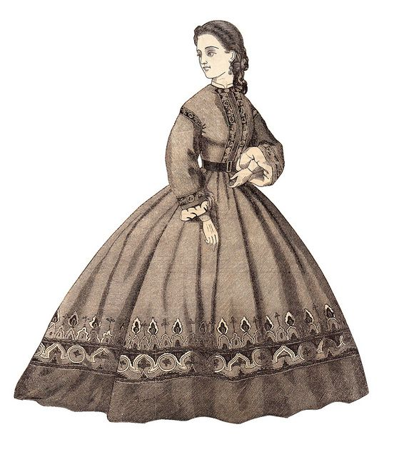 1867 Godey lady