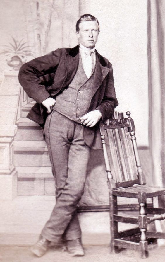 Antique Photograph  Handsome and suave.  ca. 1860: