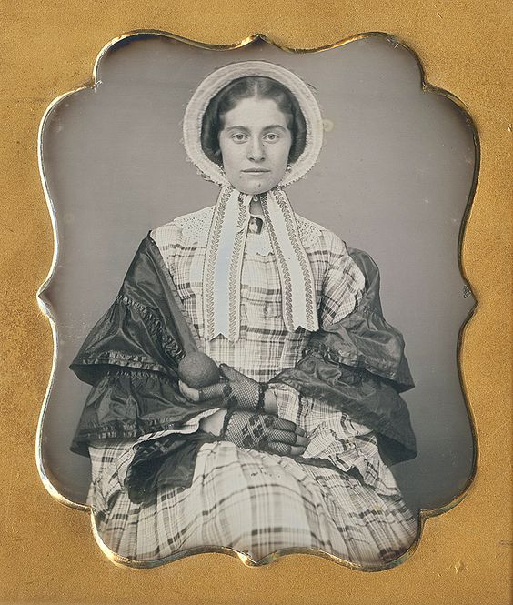 Dennis A. Waters Fine Daguerreotypes woman wearing lace gloves