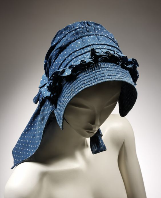 1850's corded bonnet