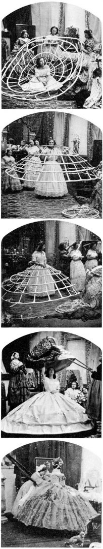 Dressing Southern style with a huge hoop petticoat