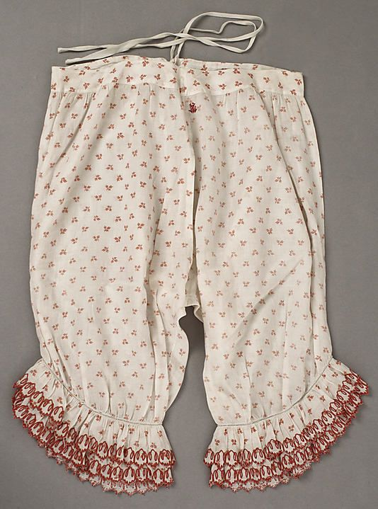 Underpants (Pantalets)  Date: mid-19th century Culture: American or European