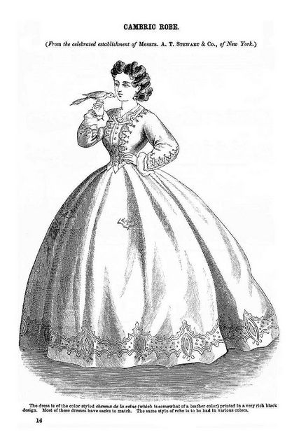 Cambrix Robe ~ Godey's Lady's Book, July 1864