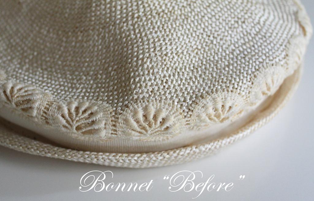 Bonnet before
