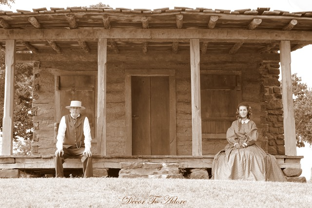 Becoming Laura Ingalls Wilder front porch