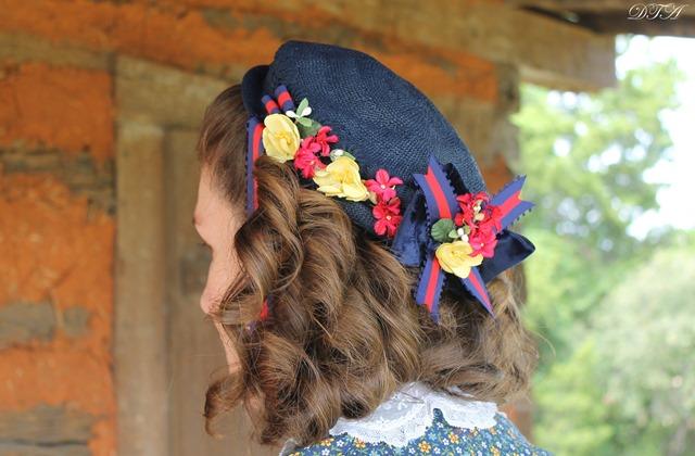 Becoming Laura Ingalls Wilder bonnet after