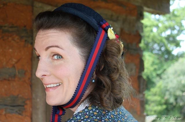 Becoming Laura Ingalls Wilder bonnet ribbon