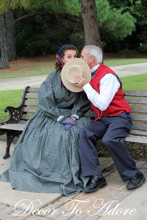 Becoming Laura Ingalls Wilder kissing