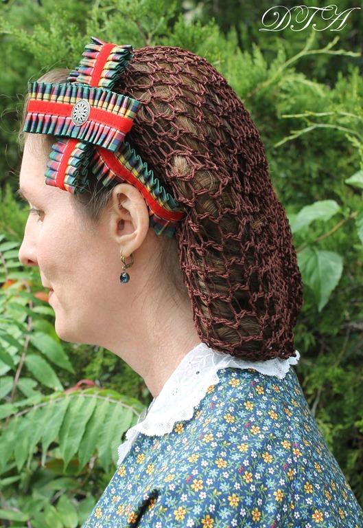Becoming Laura Ingalls Wilder wearing hairnet